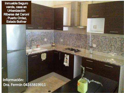 Inmueble Seguro Vende, bonita casa en Urbanización Riberas del . Puerto Ordaz, Estado Bolívar