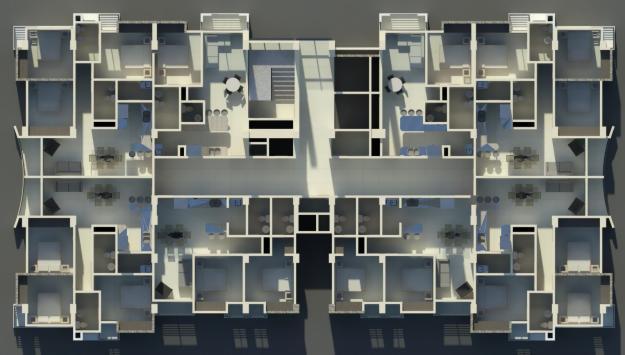 apartamento en atlantico plaza, tipo estudio
